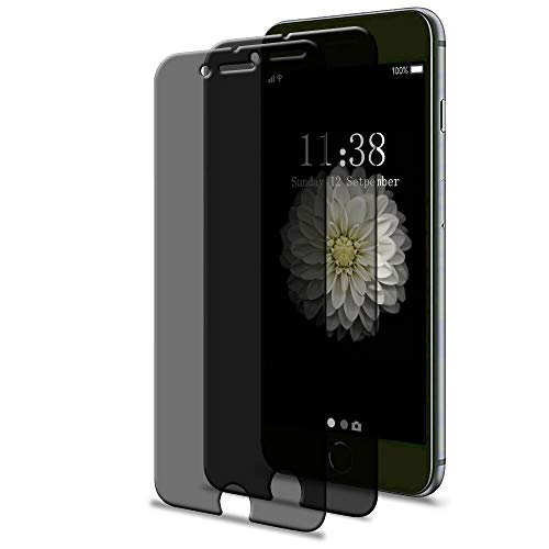 [2 Pack] Privacy Screen Protector for iPhone SE 2nd Generation, iPhone 8, iPhone 7, iPhone 6s and iPhone 6, 4.7 inch, GPROVA Anti-Spy Tempered Glass Anti-Fingerprint Anti-Scratch Film