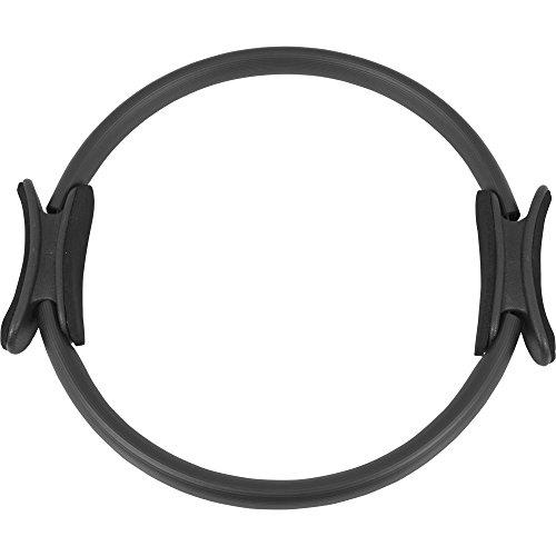 GORILLA SPORTS® Pilates Ring/Yoga Ring 39 cm Schwarz – Widerstandstrainer Kunststoff mit gepolsterten Griffen