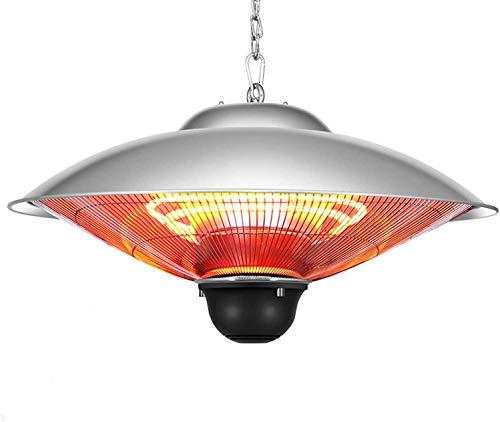 CZYNB Calentador Calentador de Patio al Aire Libre, lámpara de Calor portátil Paraguas de Acero Inoxidable, Ajustable Calentadores al Aire Libre, Conveniente for Comercial/Inicio