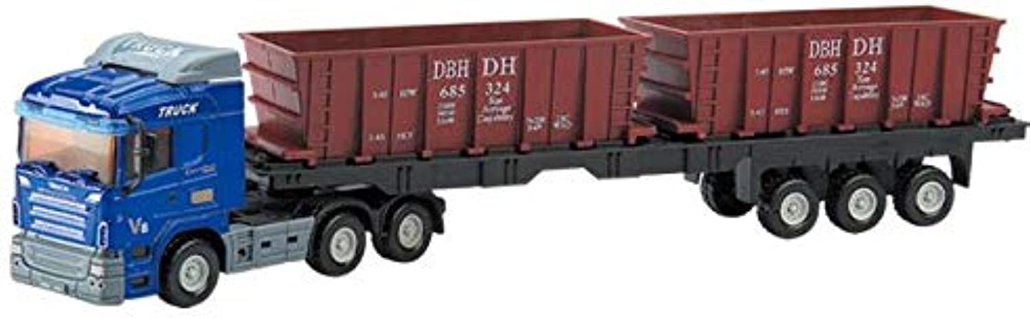 Generic 1 48 Scale Alloy Construction Vehicle Model,high Simulation Container Truck,diecast Metal Model Toy, 1