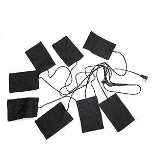 Lámina Calefactora USB Almohadilla Térmica Eléctrica, Chaleco Calefactor de 5V 2A para Mantener el Calor/Almohadilla Térmica de Tela USB,Suave,Lavable y Plegable,para Mantenerse Caliente en Invierno
