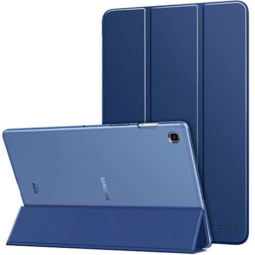 MoKo Funda Compatible con Samsung Galaxy Tab S5e 2019, Ultra Delgado de Soporte Protectora Plegable Cubierta Inteligente Trasera Transparente para Galaxy Tab S5e SM-T720/SM-T725 2019 - Azul Marino