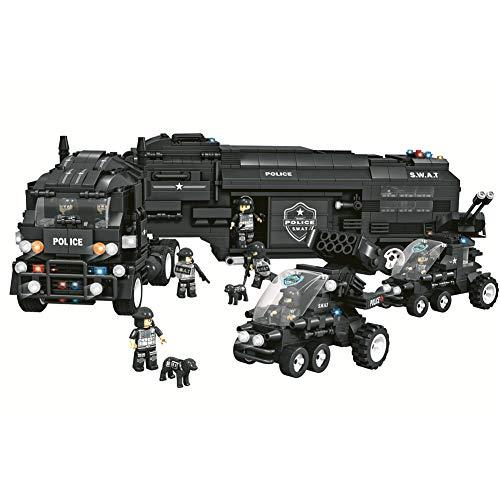 [Soggetti del Giocattolo] Police SWAT set di costruzione di squadre giocattolo. L'articolo contiene la polizia mobile centro di comando, 2 auto di pattuglia, 8 figure di polizia, 2 cani della polizia, alcune armi, 3 mattoncini di luce flash (2 tipi),...