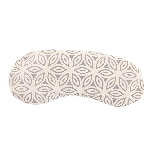 Bodhi Augenkissen aus Baumwolle mit Print-Design, gefüllt mit Bio-Leinsamen & Bio-Lavendel, vegan (Lotus Petals, Natur-grau)