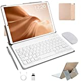 Tablet 10 Inch Android 10.0 Phablet 4GB RAM,64GB ROM(Expand to 128G) Tablet PC | Doule SIM | 8000mAh | 5.0+8.0 MP Camera | Wi-Fi | Bluetooth | GPS | With Mouse & Keyboard (gold)