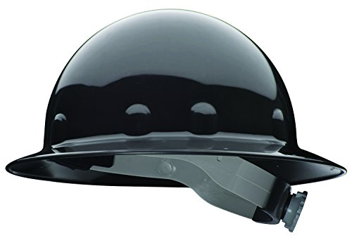 Fibre-Metal by Honeywell E1RW11A000 Super Eight Full Brim Ratchet Hard Hat, Black