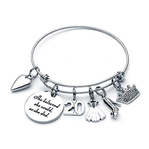 20th Birthday Gifts for Girls - Charm Bracelet Happy Birthday Gifts for 20 Year Old Girl Gifts Ideas Happy Birthday Gifts for Daughter Granddaughter Niece Charm Bracelets for Teen Girls Friend