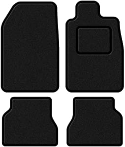 3008 2009 Custom Fit Taliored Car Mats Set Deluxe Quality Black Carpet with Black Trim