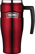 THERMOS Stainless King Vacuum-Insulated Travel Mug, 16 Ounce, Cranberry