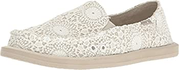 Sanuk Donna Crochet White/Oatmeal 8 B  M