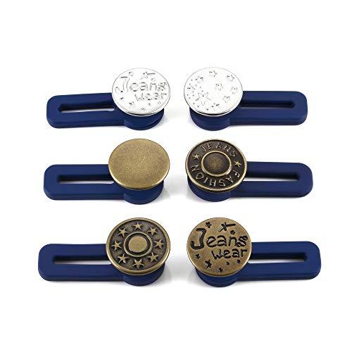 CHIC DIARY Hosenknopf Verlängerung 6 Stück Wunderknöpfe Extender Hosenerweiterung Bunderweiterung für Rock Jeans Hose