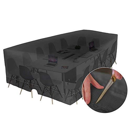 Housse De Protection Table Jardin Patio Nappe Caisson Étanche Coupe-Vent Durable Protection Extérieur Instrument, Personnalisable ALGFree (Color : Noir, Size : 180x180x100cm)