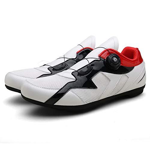 Zapatillas de Ciclismo para Hombres y Mujeres - Zapatillas de Ciclismo de Carretera Zapatillas de Peloton Calzado Transpirable Compatible con SPD Look Zapatillas de Ciclismo para Interiores Delta
