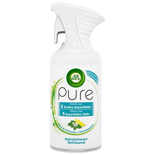 AIRWICK Pure Air Freshener Spray - Verfrissend (Zitronenblüte) - 6er Pack (6 x 250ml)
