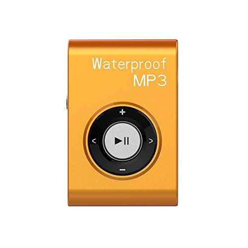 SWMIUSK Waterproof MP3 Player Built-in 8GB Swimming Diving Sports with Waterproof Headphones Players Support FM Radio and Shuffle Feature Perfect Swimming Companion