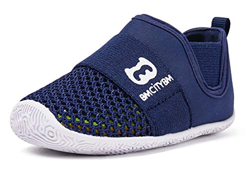 BMCiTYBM Baby Sneakers Girls Boys Mesh First Walkers Shoes, Z-Navy, 18-24 Months Toddler