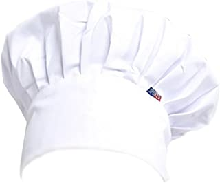 Dosige Chef Hat Hotel Camarero Suministros de Cocina Tienda de Pasteles Gorro de Tela Hombres y Mujeres Chef Trabajo Tapa Plisada Tapa de Seta(Blanco)