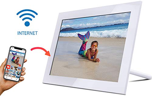 Wifi Digitale fotolijst, elektronische fotolijst, 10 inch, 1280 x 800 HD, IPS-display, wifi, fotolijst