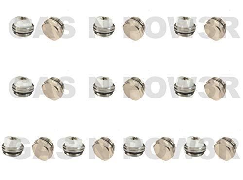 Sourcingmap Ontluchter en Blank doppenset, handmatige radiator, ontluchting, ontluchtingsventiel, blanco, 1,3 cm, BSP, hoogwaardig, 10 stuks