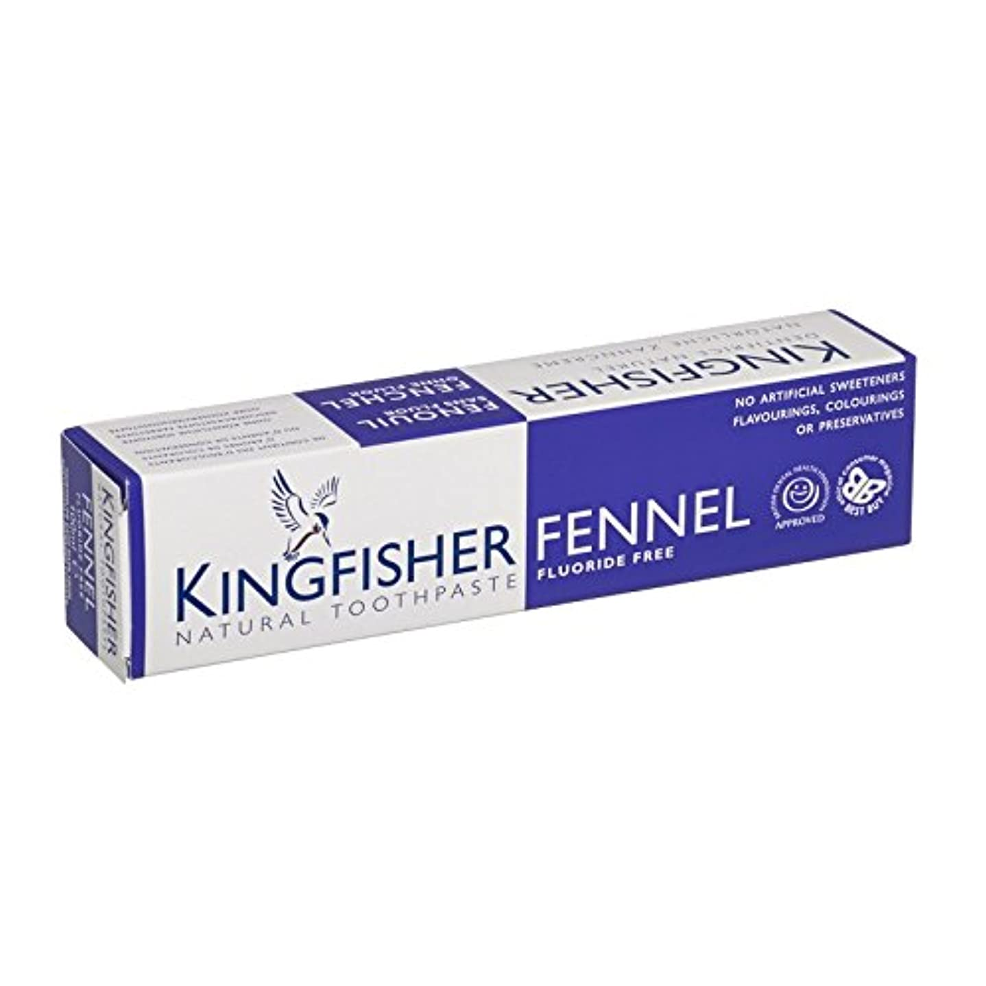 文化出費キャプションカワセミフッ化物無料ウイキョウ歯磨き粉 - Kingfisher Fluoride Free Fennel Toothpaste (Kingfisher) [並行輸入品]