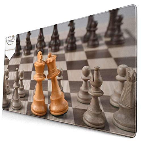 Erweitertes Gaming-Mauspad mit genähten Kanten, langem XXL-Mauspad (16 x 30 Zoll), Desktop-Pad-Tastaturpad, rutschfeste Basis für Büro- und Gaming-, Büro- und Heimkönig- und -königin-Schachfiguren