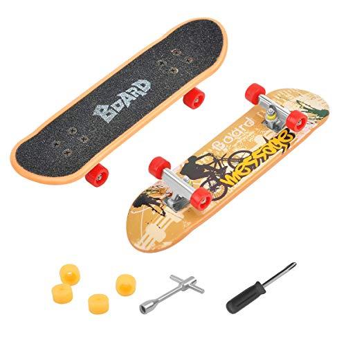 COSDDI 1 Stück Finger Skateboard Mini Griffbrett Mini Fingerboards Skatepark Spielzeug für Kinder als Geburtstag Geschenk (Zufällige Farbe)