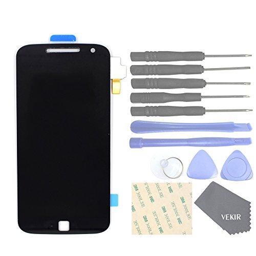 VEKIR Repuestos de teléfonos celulares para Motorola Moto G4 Plus XT1641 XT1642 Pantalla Completa Pantalla táctil digitalizador [SIN Marco de Pantalla](Black)
