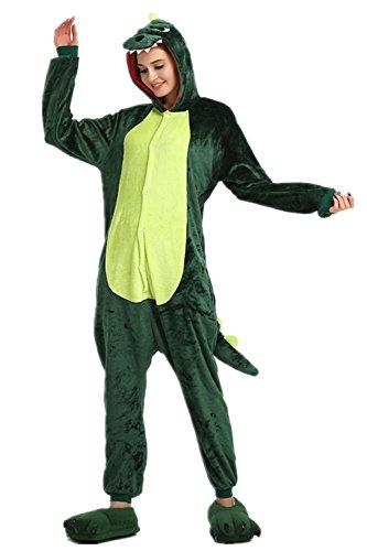 Kenmont Erwachsene Schlafanzug Tier Pyjama Damen Nachthemd Nachtwäsche Cosplay Kostüm Jumpsuit Karneval (S, Dinosaures)