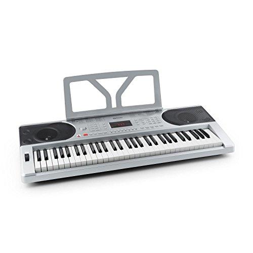 Schubert Etude 300 - Keyboard, E-Piano, 61 Tasten, anschlagdynamisch, 300 Stimmen, 300 Rhythmen, 50 Demo-Songs, Netz- oder Batteriebetrieb, silber
