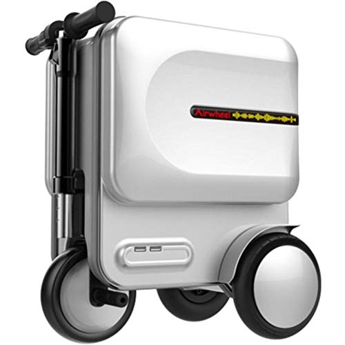 20 Inch Smart Cabin Luggage Intelligent Auto-Follow Travel Suitcase ABS Hand Luggage With TSA Lock,Telescopic adjustment direction rod Suitable For Various Airport High-Speed Railway Stations - White