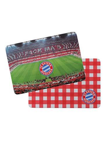 FC Bayern München Brotzeit Brettchen 2er Set 23 x 16 cm