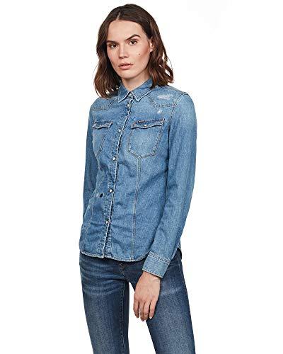 G-STAR RAW 3301 Slim Long Sleeve Blusa, Multicolor (Medium Aged Restored 138 8197-8399), Mujer