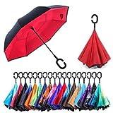 Umbrella Windproof, Reverse Umbrella, Umbrellas for Women with UV Protection, Upside Down Umbrella