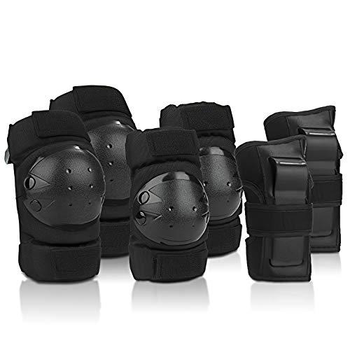 IPSXP Protektoren Set, Schoner Schutzausrüstung Set mit Ellbogenschützer Knieschützer Armbänder für Kinder und Erwachsene Skater, Rollerblading, Skateboard, Roller, Fahrradfahren (30-45 kg)