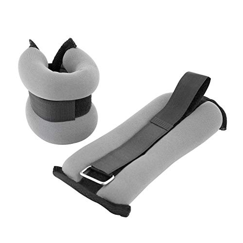 Cap Barbell HHA-005GY Cap Pair Ankle/Wrist Weights, Gray, 5 lb
