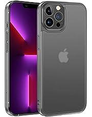NIMASO ケース iphone13promax 用 保護 カバー 側面バンパーTPU 背面強化ガラス 半透明 マット感 耐衝撃 ストラップホール付き 6.7インチ アイフォン13Pro Max 用 NSC21H299