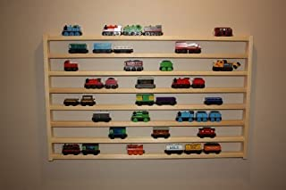 Train Rack Mega - Thomas Train 木制存储展示壁架游戏桌配件盒适用于 Brio Chuggington Melissa and Doug