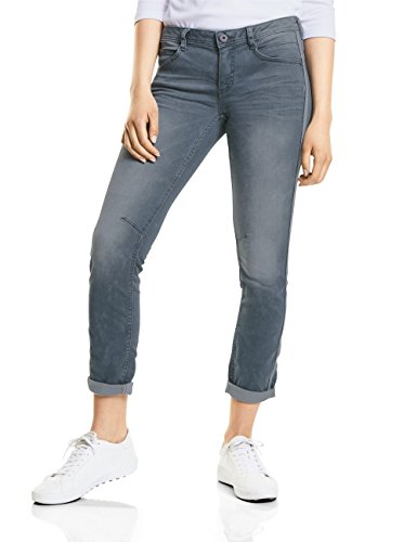 Street One Damen Slim Jeans 371235 Crissi, Grau (Authentic Mid Grey Wash 11330), W29/L30