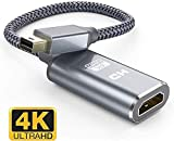 【Cerca un adattatore Thunderbolt a HDMI】: l'adattatore Mini DisplayPort HDMI portatile di lunga durata ti consente di collegare laptop con porte Mini DP a display / TV / proiettori esterni, sincronizzazione video e audio, che funziona perfettamente s...