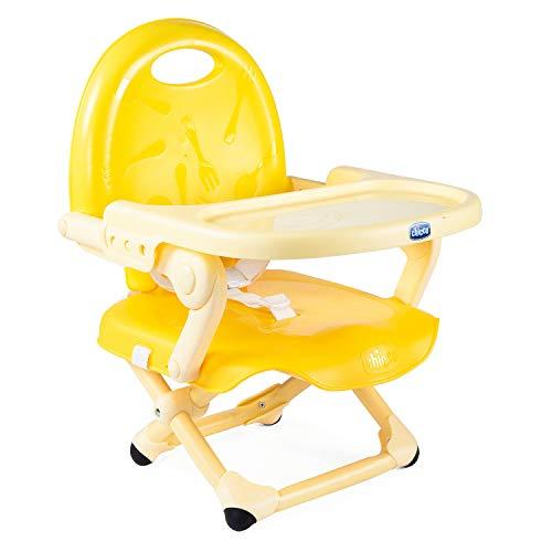 Chicco Pocket Snack Sitzerhöhung Stuhl für Kinder ab 6 Monaten bis 3 Jahren (15 kg), Tragbarer und verstellbarer Reise Hochstuhl für Kinder mit kompaktem Verschluss und abnehmbarer Tischplatte