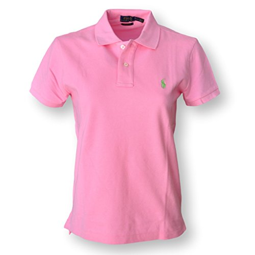 Polo Ralph Lauren Damen Wo Classic Fit Mesh Polo-Shirt Große Hrtg Pink