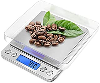 Digital Kitchen Coffee Scale 3000g 0.01oz/ 0.1g Pocket Cooking Scale Mini Food Scale Pro Electronic Jewelry Scale with Bac...