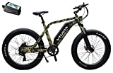 750W Adult Electric Bike Fat Tire Electric Bicycle Beach Snow Ebike 26' 4.0 inch 48V/13AH Electric Mountain Bicycle with Shimano 7 Speeds (Camouflage)