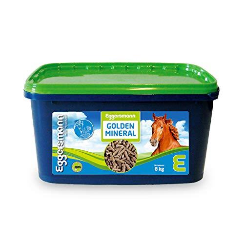 Eggersmann Golden Mineral – Mineralfuttermittel für Pferde und Ponys – Zur Ergänzung des Grundfutters – 8 kg Eimer