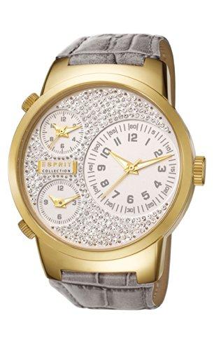 Esprit Damen-Armbanduhr Polydora Analog Quarz Leder EL190482F07