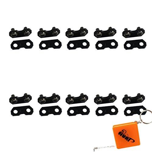HURI 10 St. Verbindungsglieder + Nieten 3/8 1,3mm für Sägekette Kette Motorsäge
