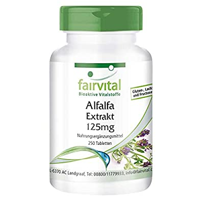 Alfalfa 500mg - Bulk Pack for 8 Months - Medicago Sativa - Vegan - 250 Tablets
