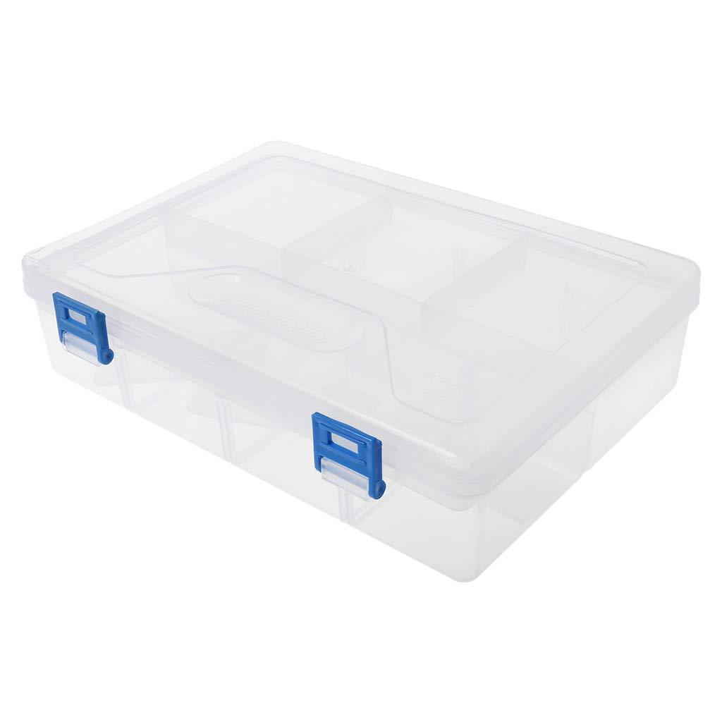 Liaobeiotry - Estuche de plástico transparente para lápices de doble capa: Amazon.es: Oficina y papelería