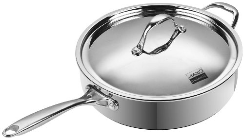 Cooks Standard 11-inch/5-quart Multi-Ply Clad Stainless Steel Deep Saute Pan with Lid