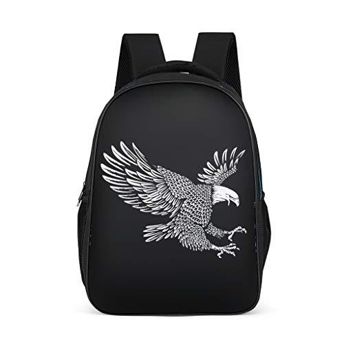 Fineiwillgo Mochila con diseño de águila con alas de Vector, mochila para bicicleta estable, para mujer, color gris brillante, talla única